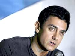 Aamir Khan speaks at a news conference held by a mobile phone company in Mumbai. Aamir Khan in Mumbai