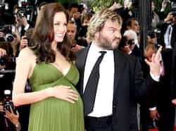 Voice actors Angelina Jolie and Jack Black arrive on the red carpet for the screening of the animated film Kung Fu Panda by directors Mark Osborne and John Stevenson at the 61st Cannes Film Festival May 15, 2008. Brand Brangelina