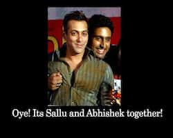Oye! Its Sallu and Abhishek together!