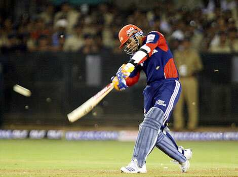 Virender Sehwag en-rout to his 75 against Rajasthan Royals in Ahmdabed on Monday. IPL 2010: The action starts here