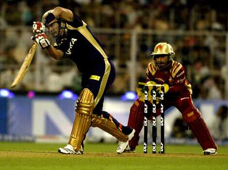 Brad Hodge scored 50 for Kolkata Knight Riders at Eden Gardens against Royal Challengers Bangalore on Sunday. IPL 2010: The action starts here