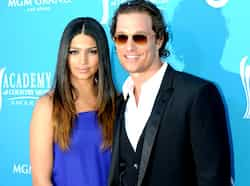 Actor Matthew McConaughey and his wife Camila Alves arrive at the 45th Academy of Country Music Awards in Las Vegas, Nevada. Country Music awards
