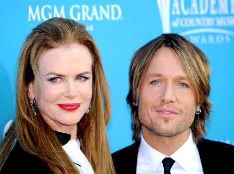 Singer Keith Urban arrives with his wife, actress Nicole Kidman at the 45th Academy of Country Music Awards in Las Vegas. Country Music awards