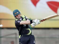 Warriors batsman Jon-Jon Smuts plays a shot during the Champions League Twenty20 cricket match against Somerset in Bangalore. Somerset beat Warriors
