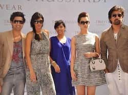 (L-R) Sahil, Anushka, Shweta and Rannvijay also upped the glamour quotient.  (Photo: Fashionista, Pinkvilla) She
