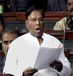 Minister of state for parliamentary affairs V Narayanasamy speaks in the Lok Sabha in New Delhi. PTI Photo Lokpal: Anna vs MPs