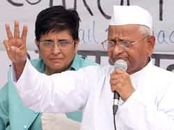 Social activist Anna Hazare speaks after breaking his fast unto death against corruption in New Delhi. Many moods of Anna