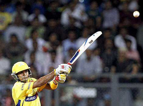 Chennai Super Kings player S Badrinath plays a shot during the match against Royal Challengers Bangalore at Wankhade stadium in Mumbai. CSK make it to IPL final, again