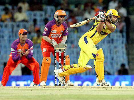 Suresh Raina of Chennai Super Kings in action against Kochi Tuskers during their IPL match in Chennai. Super Kings beat Kochi Tuskers