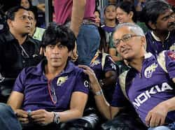 Kolkata Knight Riders owner Shahrukh Khan is seen during the team