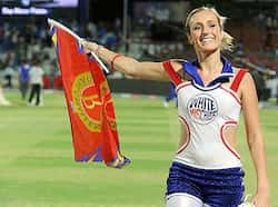 A Bangalore Royal Challengers cheerleader arrives prior to their IPL Twenty20 match against Rajasthan Royals at the Sawai Mansingh Stadium in Jaipur. Gayle magic upsets Warne