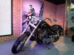 Harley Davidson launched range of new bikes during Auto Expo 2012 at Pragati Maidan in New Delhi on Thursday. HT Photo Jasjeet Plaha Auto Expo new launches: Bikes