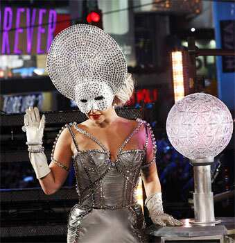 Singer Lady Gaga performs during New Year