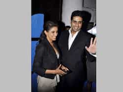 Abhishek and Asin share a laugh or two. Dabboo Ratnani