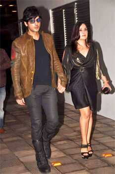 Zayed Khan with wife Mallika. B-Town at Riteish-Genelia