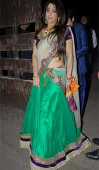 Krishika Lulla of Eros International wore a green lehenga. (Photo credit: Prodip Guha) Sealed with a kiss: Saif-Kareena