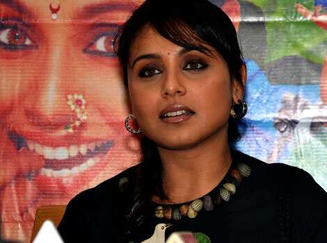 Rani Mukerji speaks to the media. MANY MOODS: Rani Mukerji promotes Aiyyaa