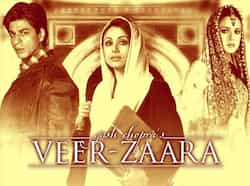 Veer-Zaara (2004): The story of the love between Veer Pratap Singh (SRK), an Indian, and Zaara Hayaat Khan (Preity Zinta), a Pakistani. Yash Chopra