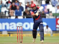 Ajit Agarka of the Daredevils during Match 15 of The Champions League T20 (CLT20) between the Perth Scorchers (Australia) and Delhi Daredevils (India) at Newlands Cricket Stadium in Cape Town. AFP Photo/Luigi Bennett CLT20: Delhi beat Perth
