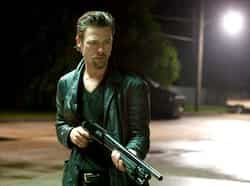 Killing Them Softly is about Jackie Cogan (Brad Pitt), a professional enforcer who investigates a heist that went down during a mob-protected poker game. Hollywood Release: Brad Pitt