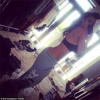 Is Kim Kardashian bidding adieu to those famous curves of hers? In a recent Twitter pic, Kardashian showed off her taut tummy, sculpted figure! Take a look at more of her pics. NARCISSISM PERSONIFIED: Kim Kardashian on Twitter