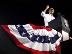 President Barack Obama speaks during a campaign event in Desert Pines High School in Las Vegas. AP Photo Oct 1: day in pics