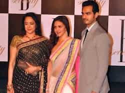 Veteran actress Hema Malini along with daughter and actress Esha Deol and son-in-law Bharat Takhtani at Big B