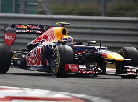 Red Bull driver Mark Webber of Australia steers his car during the third practice session for the Korean Formula One Grand Prix at the Korean International Circuit in Yeongam, South Korea. AP/Dita Alangkara Oct 13: Day in pics