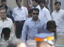 Bollywood actor Salman Khan after visiting Matoshree residence of Shiv Sena chief Bal Thackeray. Thackeray's health had worsened on Wednesday, leading to a surge of supporters gathered outside his residence in Mumbai.  (Photo by Vijayanand Gupta / Hindustan Times) Mumbai prays for Bal Thackeray