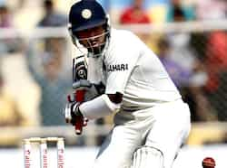 Cheteshwar Pujara plays a shot against England during the final day of first Test match at Sardar Patel Gujrat Stadium in Motera in Ahmadabad. HT/Mohd Zakir Test 1: India beat England