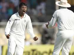 Bowler Pragyan Ojha celebrates the wicket of Alastair Cook during the final day of first Test match at Sardar Patel Stadium in Motera, Ahmadabad. HT/Mohd Zakir Test 1: India beat England
