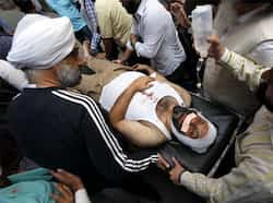 Injured Manjit Singh GK , president Shiromani Akali Dal Delhi has been admitted to the Ram Manohar Lohia hospital. Hindustan Times Clashes in Gurdwara