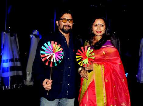 Arshad Warsi poses with his wife Maria Goretti as they attend Chivas Studio 2012 event. (AFP Photo) CINEMA N