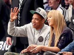Jay Z and Beyonce attend the game between the Brooklyn Nets and the New York Knicks at the Barclays Center in the Brooklyn borough of New York City. AFP Photo Nov 27: day in pics