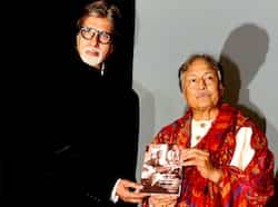 Amitabh Bachchan poses with Ustad Amjad Ali Khan as he unveils his book My Father, Our Fraternity. (AFP Photo) STUNNER! Aishwarya Rai Bachchan at book launch