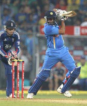 Rohit Sharma plays a shot during the T20 cricket match against England at Wankhede Stadium in Mumbai. HT/Satish Bate T20: England beat India