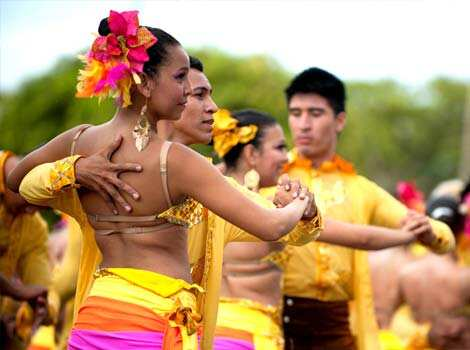 Dancers perform in the Salsodromo parade, which marks the start of the 55th Fair of Cali in Cali, Colombia. AFP Photo Why walk when you can dance?