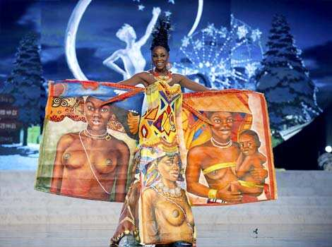 Miss Angola Marcelina Vahekeni parades proudly in a costume representing her country at the 2012 Miss Universe National Costume Show at PH Live in Las Vegas. The 89 contestants showcased the best of their countries wearing their national costumes at the competition. (Reuters) Beauties at their best