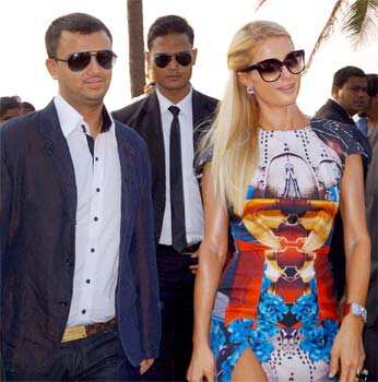 American socialite, businesswoman and fashion designer Paris Hilton in Panaji. (PTI Photo) Paris Hilton woos India