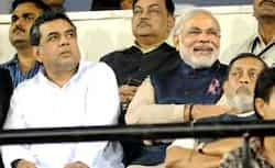 Gujarat CM Narendra Modi, actor Paresh Raval and Amit Shah watch the second T20 match between India and Pakistan in Ahmedabad. PTI T20: India beat Pakistan