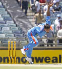 Praveen Kumar bowls against Sri Lanka during their One Day International cricket match at the WACA in Perth, Australia. AP Perth ODI: India beat Sri Lanka