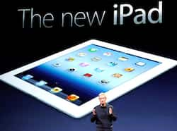 Apple CEO Tim Cook unveils the new iPad during an Apple product launch event at Yerba Buena Center for the Arts in San Francisco, California. AFP Apple unveils new iPad