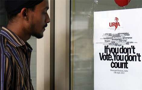 Posters urge people to vote MCD polls 2012
