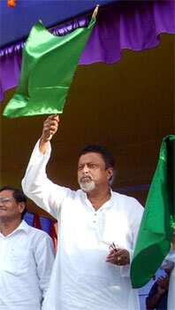 Mukul Roy, the general secretary of Trinamol Congress, is tipped to replace Dinesh Trivedi as the railway minister. (AFP Photo) Rail Budget rolls out