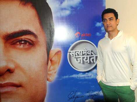 Aamir Khan has been going all out to keep everything related to his maiden TV show, Satyamev Jayate, under wraps.  Aamir Khan ecstatic after Satyamev Jayate
