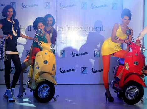 The Vespa LX will cost around Rs. 66,661 in India, a 40% premium to most scooters, but still the lowest sticker price in the world. AFP Photo/Indranil Mukherjee Vespa scooters in India
