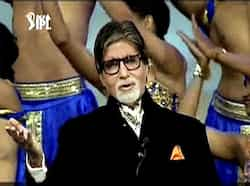 Megastar Amitabh Bachchan recites a poem on cricket during the opening ceremony of the 5th edition of Indian Premier League in Chennai. PTI/TV grab IPL5 opening ceremony