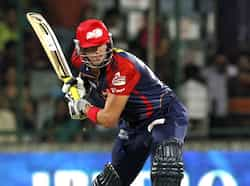 Delhi Daredevils batsman Kevin Pieterson plays a shot against Mumbai Indians during their IPL match at Ferozshah Kotla ground in New Delhi. HT Photo/Mohd Zakir Delhi thrash Mumbai Indians