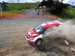 Gill was holding fort in third and using every bit of road available to him to keep the other Proton of Scotsman Alister McRae behind him. HT Photo/Vinayak Pande International Rally of Whangarei