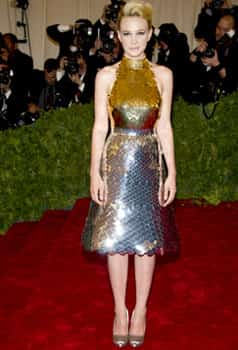 Carey Mulligan looks like a Little Mermaid, only a more bling one. FASHION DISASTER! Stars at Met Gala